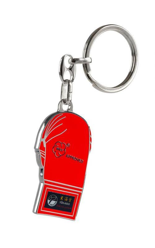 Schlüsselanhänger, TOKAIDO Kumite Faustschutz, rot / blau