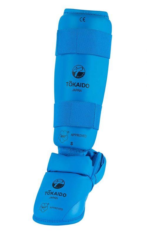 Karate Schienbein-/Fußschutz TOKAIDO, WKF, blau
