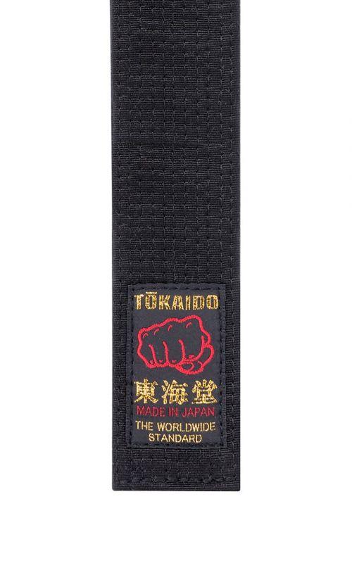 Karate Gürtel, TOKAIDO, Baumwolle, made in Japan, schwarz