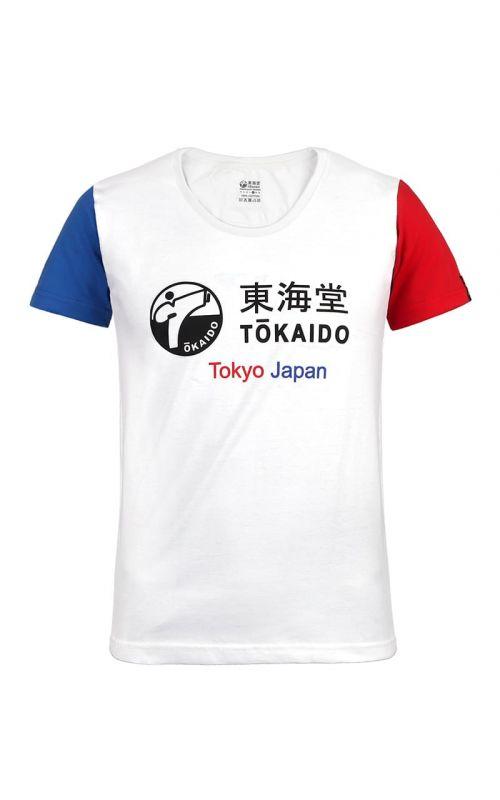 DAMEN T-Shirt, TOKAIDO Aka / Ao, weiß