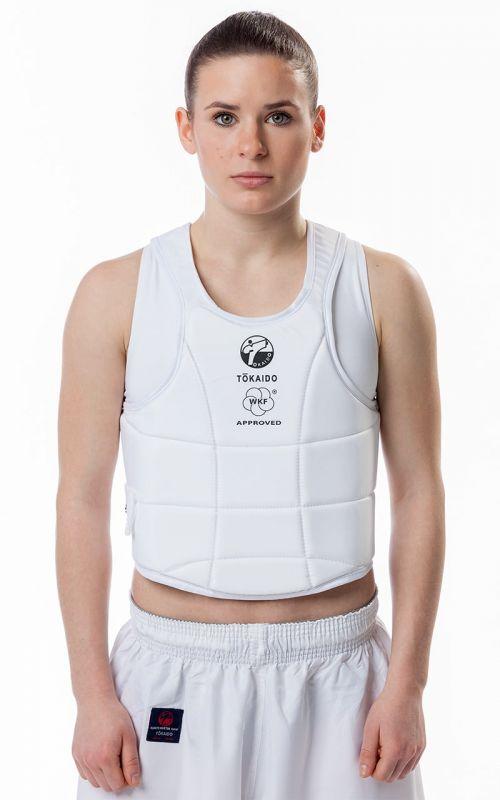 Karate Vest, TOKAIDO Body Guard Pro, WKF, white