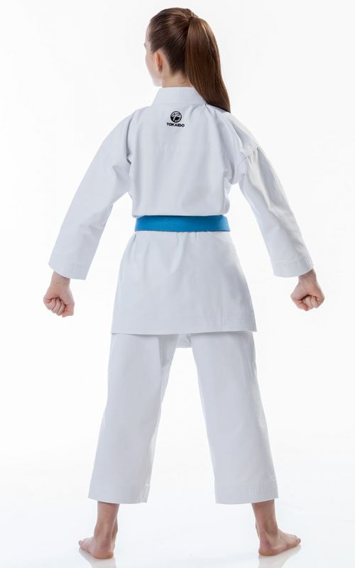 Beginner Karate Gi, TOKAIDO Kata Master Junior, WKF, Slim Fit, 12 oz.