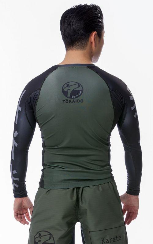 Kompressionsshirt, TOKAIDO Athletic Elite Training, grün / schwarz