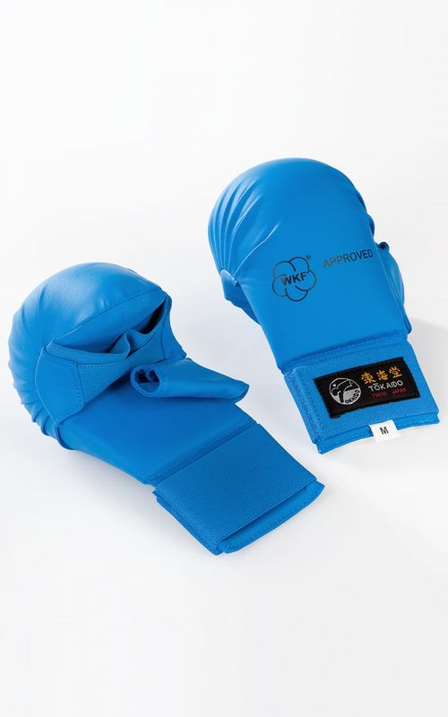 Karate Faustschützer, TOKAIDO, WKF, mit Daumen, blau