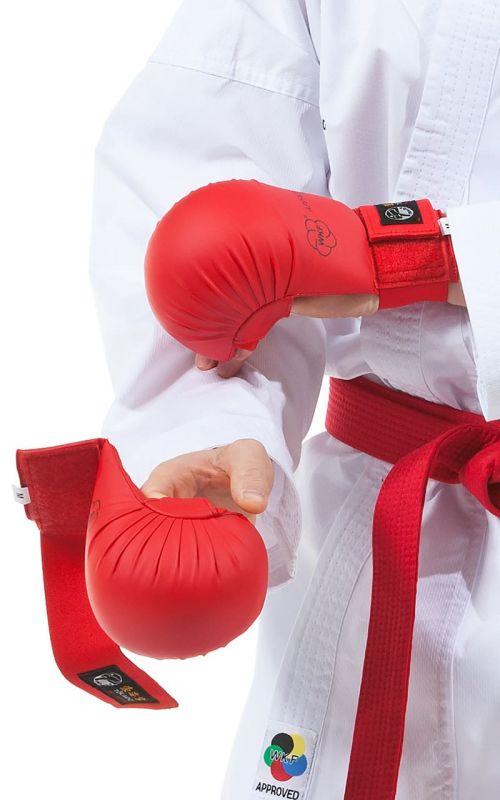 Karate Faustschützer, TOKAIDO, WKF, ohne Daumen, rot