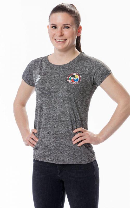 Damen T-Shirt, TOKAIDO Team (WKF), grau