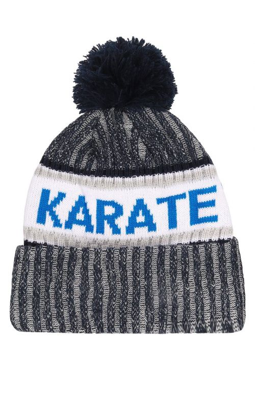 Bobble Hat, TOKAIDO, WKF, grey / white