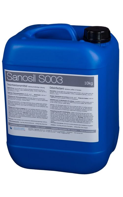Surface Disinfectant, SANOSIL S003, 10 kg