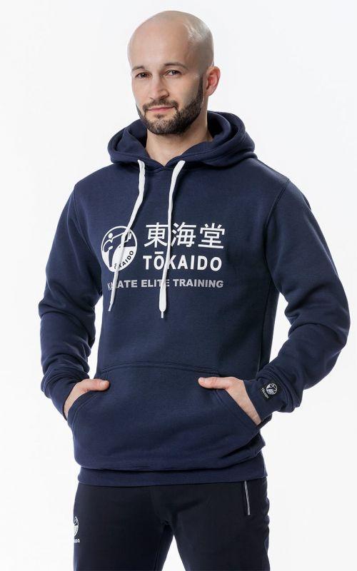 HERREN Hoody, TOKAIDO Athletic, Slim Fit, blau