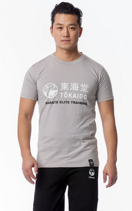 T-Shirt, TOKAIDO Athletic, Slim Fit, light grey