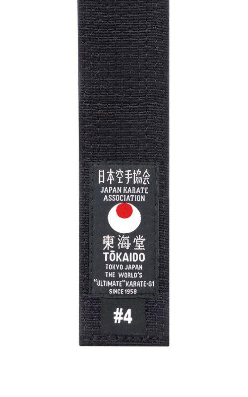Karate Belt, TOKAIDO, cotton, black