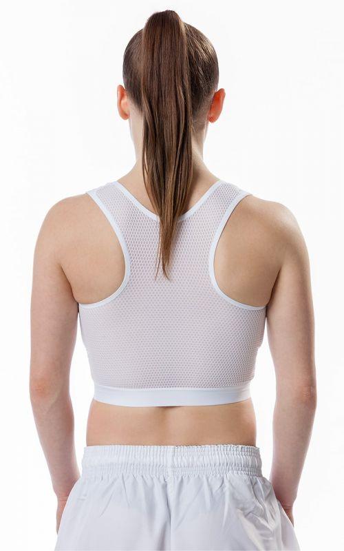 Karate Brustschutz für Frauen, TOKAIDO, Set mit Top, WKF, weiss