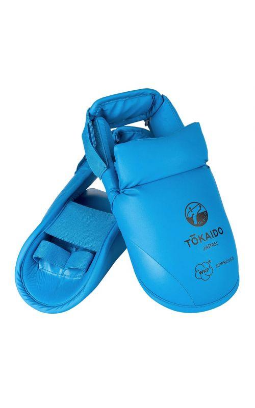 Karate Fußschutz, TOKAIDO, WKF, mit Klettverschluss, blau