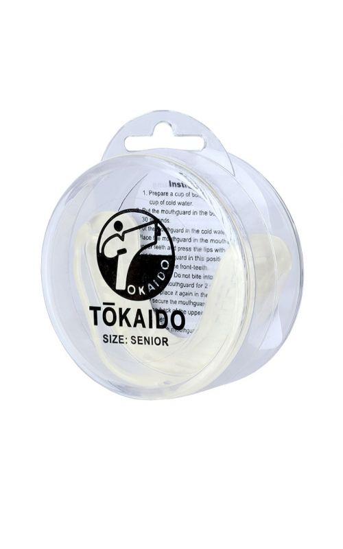 Karate Zahnschutz, TOKAIDO, mit Box, weiss
