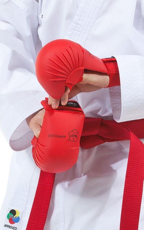 Karate Faustschützer, TOKAIDO, WKF, mit Daumen, rot