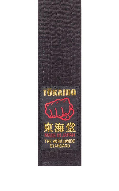 Karate Gürtel, TOKAIDO, Kunstseide, made in Japan, schwarz