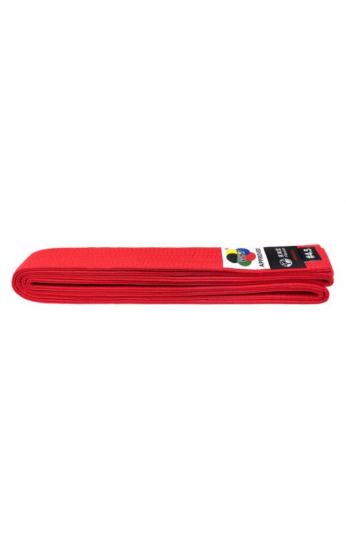 Karate Belt, TOKAIDO, cotton, red