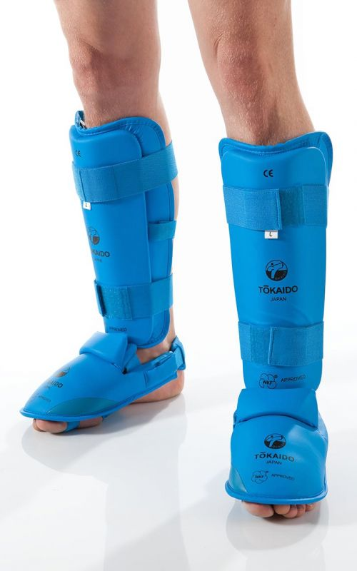 Tokaido RED Karate shin//instep Protector WKF Approved